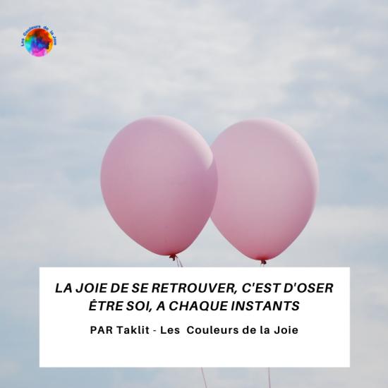 ballon les couleurs de la joie